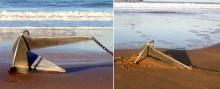 Mar Abierto - En apenas 0,6 m. el ancla Knox queda completamente enterrada en la