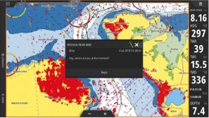Mar Abierto - La integración de los SMS al display es una de las nuevas funciona