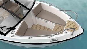 Mar Abierto - Los bancos de proa de la Quicksilver Activ 555 Bowrider tienen est