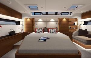 Mar Abierto - La suite del armador ocupa toda la amplia popa del Amel 60.