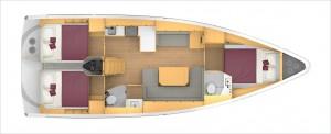 Mar Abierto - 2 o 3 cabinas dobles y 1 o 2 baños en los interiores del nuevo Bav