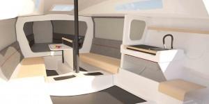 Mar Abierto - Interiores sencillos, pero funcionales para la vida en crucero.