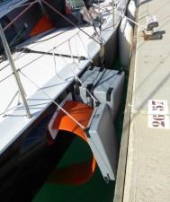 Mar Abierto - Una vez recogidos, los foils no sobresalen de la manga máxima, si