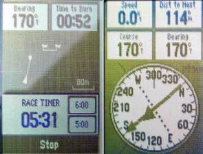 Mar Abierto - La función SailAssist (izq.) del GPS 73  mantiene a la vista la cu