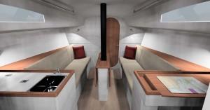 Mar Abierto - Los interiores del J/99 ofrecen buena altura de techo y unos acaba