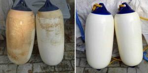 Mar Abierto - El antes y el después de una limpieza de las defensas. Utilizando