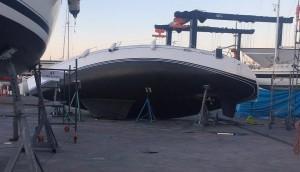 Mar Abierto- Es la imagen más triste que uno puede tener de su velero. En la fot