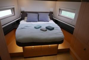 Mar Abierto - El camarote/suite del armador se ubica en proa en todas las opcion