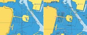 Mar Abierto - En las dos imágenes podemos ver el antes (izq.) y el después del n