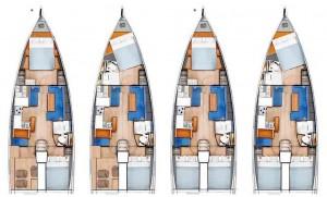 Mar Abierto - De 2 a 3 camarotes dobles y 1 o 2 baños en unos interiores funcion