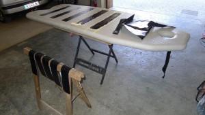 Mar Abierto - (foto 3) Con las tiras cortadas y el suelo enmascarado, es el mome