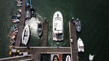 Mar Abierto - Con el DockSense activado se crea un cordón alrededor del barco qu