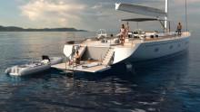 Mar Abierto . Las superficies para el farniente son enormes y el nuevo Swan 108