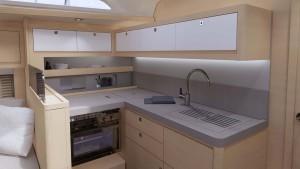 Mar Abierto - La cocina queda a proa del salón en todas las distribuciones excep