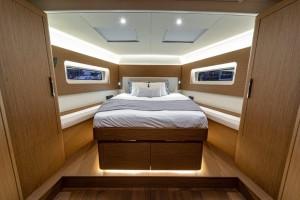 Mar Abierto - El camarote/suite del armador se ubica en proa, con una litera 'is