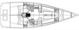 Mar Abierto - Para el crucero, el Italia 11.98 ofrece una acomodación completa y