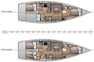 Mar Abierto - Dos o tres cabinas dobles con dos baños completos en unos interior