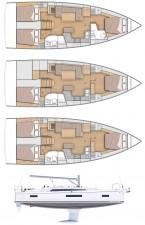 Mar Abierto - Tres posibles distribuciones en un rápido casco diseño Sam Manuard
