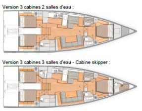 Mar Abierto - El Oceanis Yacht 54 se propone con tres cabinas dobles, con opción