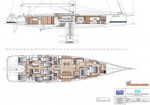 Mar Abierto - Tres cabinas dobles para los invitados del armador y otras tantas